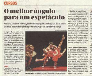 Reportagem no Globo Zona Sul sobre o curso Fotografia de Espetáculos, do Ateliê da Imagem