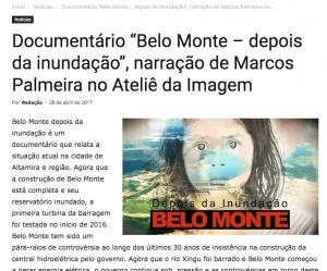 Moleque Mateiro no Ateliê da Imagem com o doc Belo Monte, depois da inundação