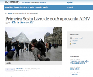 ADIV, projeção de videos experimentais de 55 artistas na Sexta-Livre apresentada na Overmundo