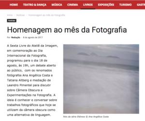 Câmera Obscura e suas Experimentações © Sopa Cultural